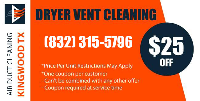 Coupon Dryer Vent Cleaning Service Kingwood TX